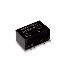 Meanwell MDS01 & MDD01 series 1W SIP Package DC-DC Medical Grade Unregulated Converter