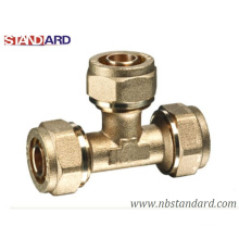 Brass Tee Pex Fitting/Pex Pipe Fitting/Compression Tee/Copper Fitting