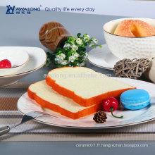 Hot Sale Pure White Ceramic Fine Western Bone China Vaisselle Assiettes et plats