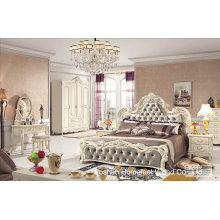China Wholesale Antique Wooden Bedroom Set (HF-MG017)
