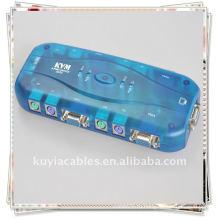 4-портовый коммутатор KVM для ПК с ЖК-монитором PS / 2 VGA