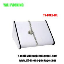 La última venta al por mayor del soporte de exhibición de la pulsera del cuero del diseño (TY-BTX2-WL)
