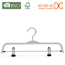 Branco cabide laminado com clipes (pH027)