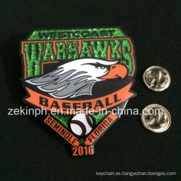 Metal Souvenir Cheap Birds Animal Metal Glitter Badge