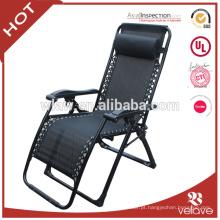Pátio ao ar livre deluxe dobrável cadeira de gravidade zero com travesseiro