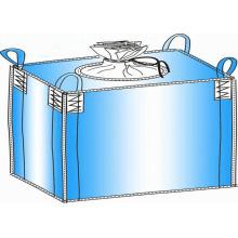 Sac de tissu tissé de pp, fond plat de 4 sangles, sac de Jumbo, sac en vrac, sac tissé de pp