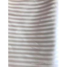 Tissu polyester dobby jacquar à rayures de 1 cm