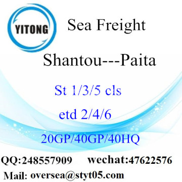 Shantou Port Sea Freight Shipping ke Paita