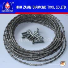 Grade una sierra de alambre de cable de diamante para perfiles de mármol de granito