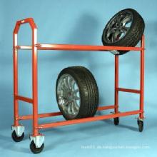 4s Auto Store Lager Räder Reifen Hand Roll Palette Warenkorb