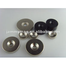 powerful round magnet with sinking hole