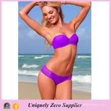 Les femmes les plus chaudes Multi Stripes Style Maillots de bain en couleur unicale Sexy Tankinis Bikini