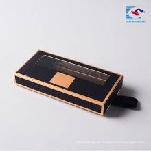 Personalizado preto luxo cílios chicote de extensão de papel caixas de presente personalizado caixa de cílios magnética