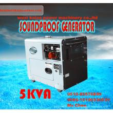 Generador diesel silencioso portable del precio bajo 5kw /5.5kVA