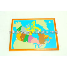 Montessori Factory - Canada Puzzle Map With BEECHWOOD FRAME