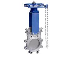 Chainwheel funcionado válvula de guillotina