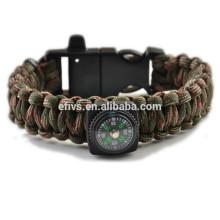 Paracord fogo starter pulseiras com fogo starter Alibaba recomendar