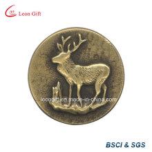Badge publicitaire personnalisé 3D Antique broche métallique