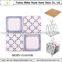 Coasters en résine blanche avec photo coupée et coaster promotionnel