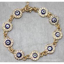 Evil Eye Round Shape Diamond Bracelet (XBL13492)