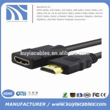 Черный 5-футовый HDMI-кабель с выдвижным штекером M на женский F