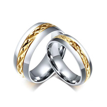 cheap engraved promise couples rings for her,silver and gold rings jewelry