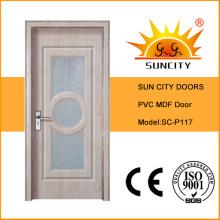 Дешевые Водонепроницаемый высокое качество ПВХ дверь (СК-P117)
