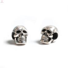 Gros tête os 3D argent Sennit Bracelet bricolage perle bijoux crâne breloque