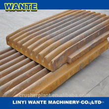 High manganese steel ,jaw plate jaw plate Top quality jaw crusher plate