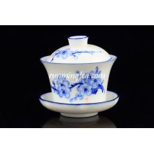 Popular Blue Plum Blossom ensembles de tasses à thé et soucoupes en gros