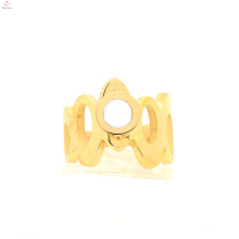 High quality yellow gold design ladies rings, crown shape rings for women's engagements