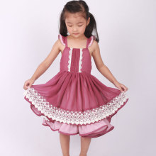 girls Dollcake remake plum ruffle twirly dress