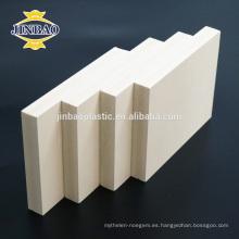 JINBAO 1220X2440mm Muebles Material PVC Madera Hoja de espuma plástica