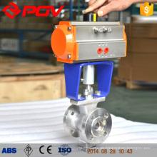 ISO-Flansch V-Typ Pneumatischer Kugelhahn DN150