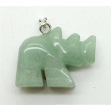 Rhinoceros Форма Зеленый авантюрин подвеска