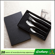 Cuchillo y tenedor de acero inoxidable Cuchara 4 juegos de cubiertos