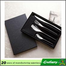 Faca de aço inoxidável e garfo colher 4 conjuntos conjunto de talheres