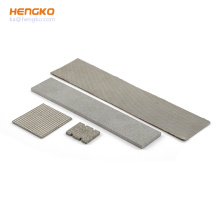 Customized different size flexible design powder sintering porous 316 316L stainless steel filter plate for fuel oil/wine filter