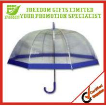 Transparenter PVC-Regenschirm