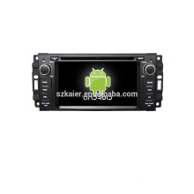 Quad core! DVD de coche con enlace espejo / DVR / TPMS / OBD2 para pantalla táctil de 6,2 pulgadas quad core 4.4 Sistema Android JEEP / CHRYSLER / DODGE