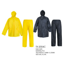 ensemble imperméable en polyester pvc