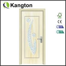 Portas de madeira de PVC de vidro para cozinha (porta de vidro de PVC)