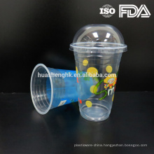 Hot Sale Cheap Plastic Clear 17oz Disposable Cup with Lid Plastic