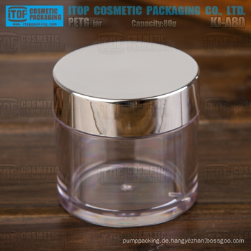 KJ-A80 80g breite Anwendung für Kosmetik 80g Entwarnung dickwandigen Kapsel Plastikglas