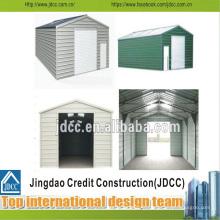 Garage à structure métallique légère facile à installer