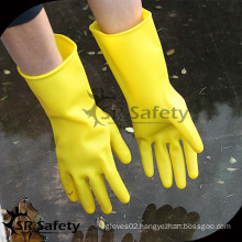 SRSAFETY cotton liner dipping latex household wash glove cleaning gloves