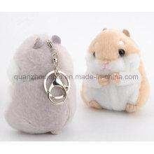 OEM Plush Stuffed Hamster Toy Keyring Keychain Key Ring Chain