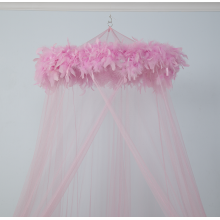Baby Girl Princess Style Feather Baby Mosquito Net