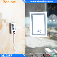 Square Wall Mounted Magic LED Mirror with 3X Magnify