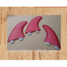 hex type model pink design G5 G7 FCS system surf fins wholesale